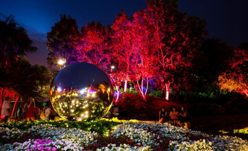 Enchanted Garden Lights Up For Christmas In Brisbane